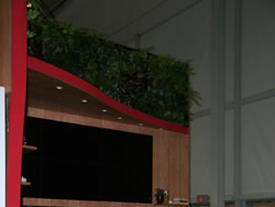 Plants on Walls at Trade Show